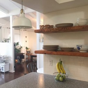 """American Boulangerie Series Floating Shelves - mid to late 1800's 2"""" thick barn wood"""